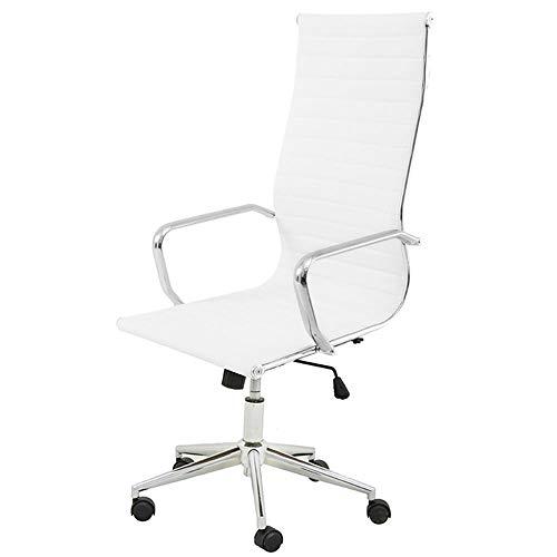 Cadeira Sevilha Eames Alta PU Branco Base Cromada - 6752 Sun House