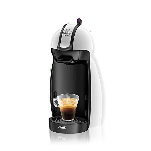 De'Longhi EDG100.W Piccolo - Macchina per caffè Espresso e Altre Bevande in Capsula Nescafe Dolce Gusto, 1460 W, 15 bar, Plastica, Bianco
