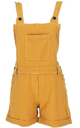 Guru-Shop Goa Shorts, Kurze Latzhose, Boho Latzhose, Damen, Mustard, Baumwolle, Size:M (38), Shorts, 3/4 Hosen, Leggings Alternative Bekleidung