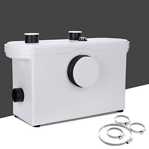 Karpal 3/1 Pompe à eau compacte 600W, WC pompe de relevage 230V 50Hz, Broyeur sanitaire 140 L/min, Eaux usées Station de relevage, pour Salle de bain, cuisine, traitement des eaux usées