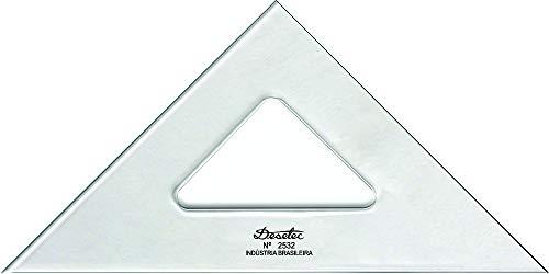 Esquadro 45° de 32 cm em Acrílico Cristal sem Escalas Ref. 2532, Trident, Incolor