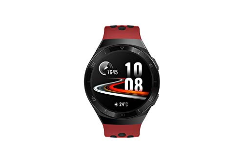 Huawei Watch GT 2e Sport - AMOLED Smartwatch 1.39 inch screen, 2 weeks battery, GPS, Color Red (Lava Red) 46 mm (55025280)