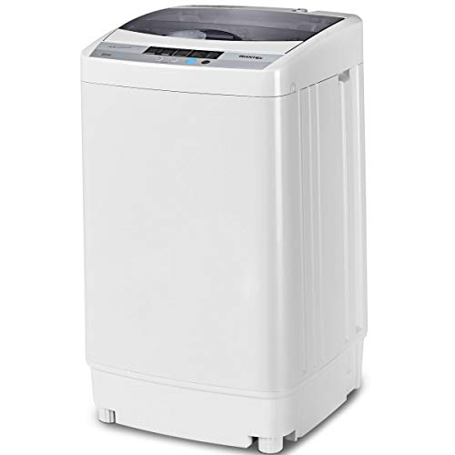 Giantex Full-Automatic Washing Machine Portable Compact 1.34 Cu.ft Laundry Washer Spin with Drain Pump, 10 programs...