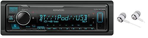 Kenwood Bluetooth USB MP3 WMA AM/FM Digital Media Player Dual Phone Connection Pandora Car Stereo Receiver/Free Alphasonik Earbuds