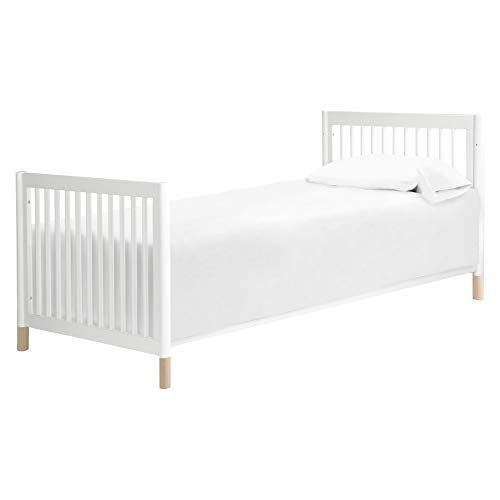 Product Image 6: Babyletto Gelato 4-in-1 Convertible Mini Crib in White / Washed Natural, Greenguard Gold Certified