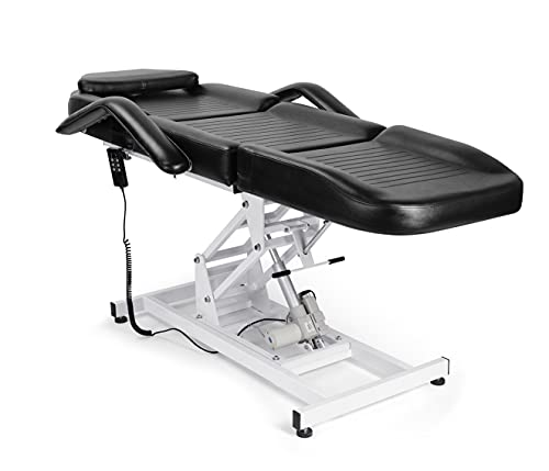 Funnylife Electric Beauty Bed Chair Height Adjustable Massage Table for Tattoo Lash Extensions Microblading Spa Beauty Salon Equipment