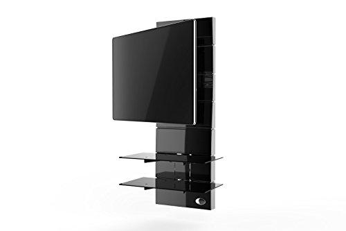 Meliconi Ghost Design 3000 Rotation Supporto Doppio Braccio Orientabile per TV da 32' a 63' con...