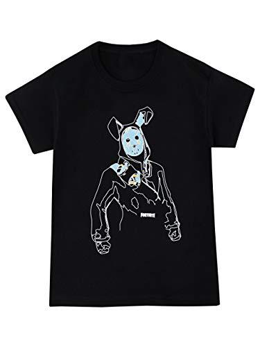 Fortnite Camiseta de Manga Corta para Niños Negro 14-15 Años