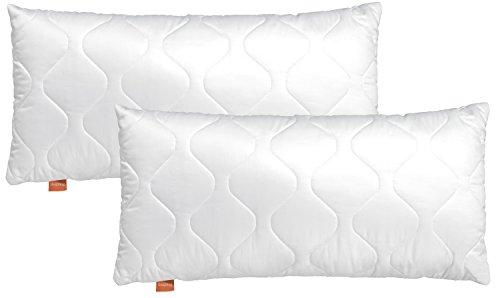 sleepling kussenset | 191120 comfort | Microvezel | 40 x 80 cm | Wit