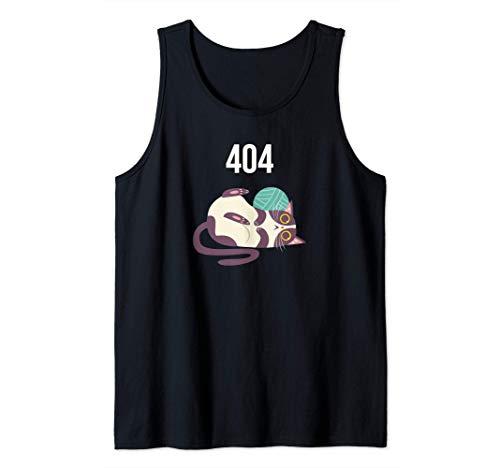 HTTP 404 Error Funny Cute Cat Chibi Kawaii Neko Tank Top