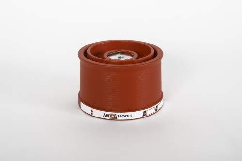 Mv Spools Bobine e Accessori compatibili con Mulinello Shimano Bull's Eye 9120 (Rosso, 0.26/350m-0.30/300m-0.35/250m)