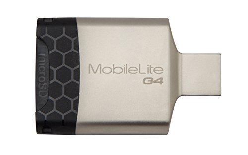 【USB3.0】 Kingston/キングストン UHS-II対応 コンパクトなUSB3.0対応多機能カードリーダー MobileLite G4 FCR-MLG4