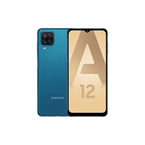 Samsung Galaxy A12 4G – Bleu - 64Go - Smartphone Android débloqué - Version Française - Ecouteurs inclus
