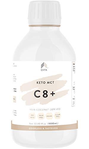Keto Plus Actives MCT C8 - Aceite de Coco C8 100%, 10X Mas K