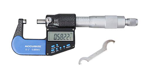 Accusize Industrial Tools 7-Key Electronic Digital Micrometer