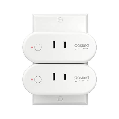【Amazon Alexa認定】ゴウサンド(Gosund) WiFi スマートプラグ Alexa/Google Home/IFTTT 対応 gs-wp6-2 (2 ...