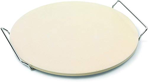 HARI Cordierite Pizza Stoneware with Stand, Ovens and Grills, Beige, Tan