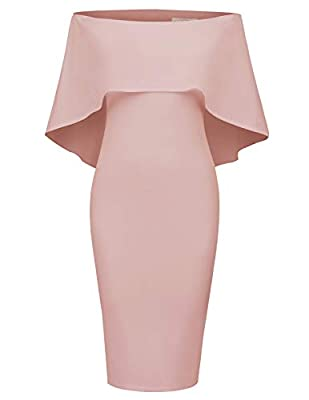 Design:This sexy off shoulder dress has nice cut, and hugs in all the right places to show your figure. This off shoulder Cape Dressis elegant for Most Social Occasions: Party/Evening/Club/Cocktail/Wedding reception/Business presentation/Ball/Prom/Ho...