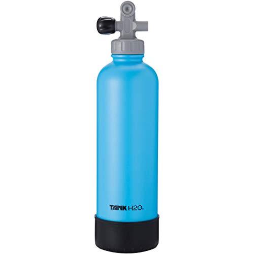 TankH2O Tauchflasche Vacuum Insulated Wasserflasche: Großes Geschenk und Zubehör für Taucher   Hält 700 ml   Lebensmittel-Grad-Edelstahl-Flasche, BPA-frei Cap, Silikon-Boot (blau)