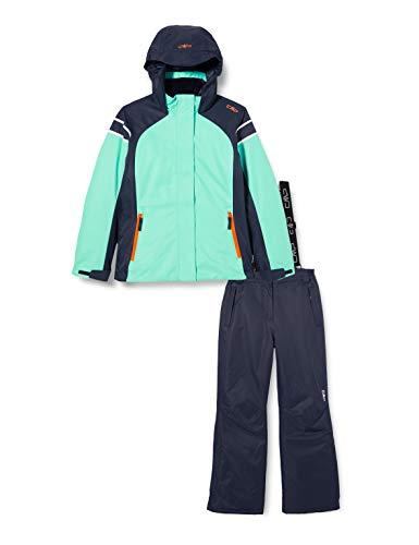 CMP Set da Sport sulla Neve (Giacca+Pantaloni), Sci Bambina, e517, 110, Acqua
