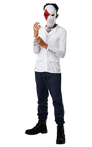 Rubies - Kit oficial de disfraz de Fortnite Wild Card – Top y máscara, talla única de 10 + altura hasta 152 cm