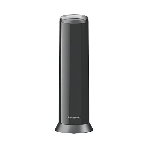 Panasonic KX-TGK220GB Design-Telefon mit Anrufbeantworter & Wecker, Haustelefon (schnurlos), HD-Telefonie, schwarz