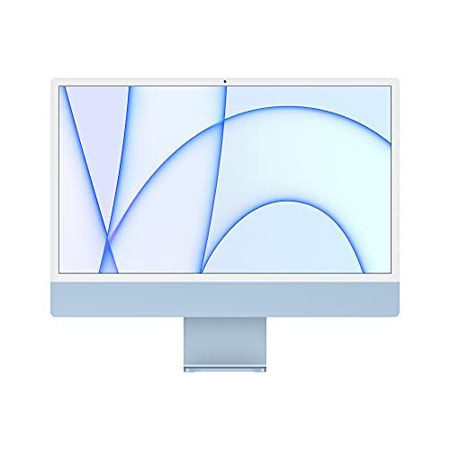 2021 Apple iMac (de24Pulgadas, Chip M1 de Apple con CPU de Ochonúcleos yGPU deOchonúcleos, Cuatro Puertos, 8GB RAM, 256 GB) - Azul