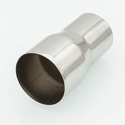 AJP Distributors Universal Exhaust Pipe Adapter Connector Reducer Stainless Steel Adapter (2.5' OD to 3' OD)