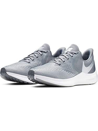 Nike Women's Zoom Winflo 6 Track & Field Shoes, Cool Grey/Metallic Platinum/Wolf Grey/White, 8.5 B US