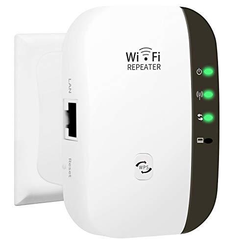 Amplificateur WiFi, 300 Mbps Répéteur WiFi 2.4G WiFi Extender Avoir AP/Répéteur et WPS Fonction, Compatible avec Toutes Les Box Internet, Couvrir Le Signal Jusqu'à 200 m²