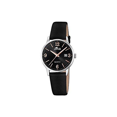 Lotus Damen Analog Quarz Uhr mit Leder Armband 18699/4