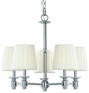 Nadia Collection 5-Light Chandelier Chrome