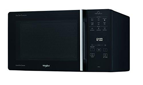 Whirlpool Microonde MCP 349 BL Chef Plus termoventilato combinato, con griglia alta, griglia bassa,...