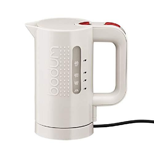 Bodum 11451-913EURO Hervidor de Agua eléctrico, 0,5 l, 700 W, plástico, Blanco Crema
