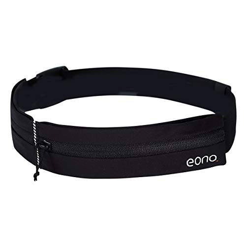 Eono by Amazon - Water Resistant Running Waist Pack with Adjustable Elastic Strap, Large Capacity Running Belt for Gym Workouts, Exercise, Cycling, Walking, Travel & Outdoor Activities