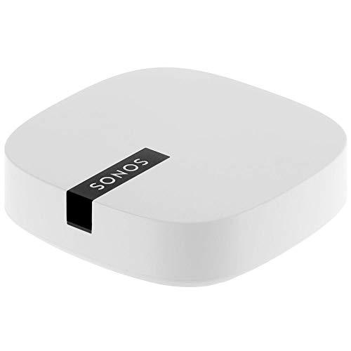 Sonos Boost WLAN Bridge, weiß – WLAN Verstärker für störungsfreie Übertragung im Sonos Home Soundsystem – Mehr Reichweite für die Verbindung der Sonos WLAN Lautsprecher