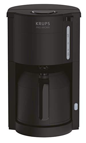 Krups Pro Aroma KM3038 KM303810 Filterkaffeemaschine 1 L Fassungsvermögen mit Thermokanne, (800 Watt, für 10-15 Tassen Kaffee) schwarz