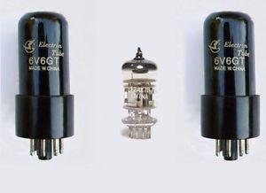 Jellyfish Audio 6V6 / 6P6P & 12AX7 Valve kit for Fender Super Champ XD or X2 guitar amps