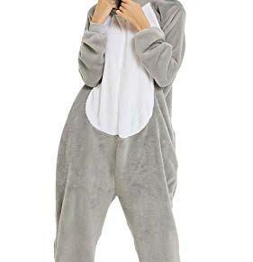 YULOONG Pijama de animal adulto con unicornio, dinosaurio, león, Halloween, Navidad, cosplay, disfraz para mujer y…
