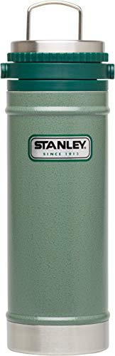 Stanley Classic French Press Reise-Kaffeebereiter, 0.47 L, hammertone green, 18/8 Edelstahl, doppelwandig vakuumisoliert, BPA-frei, Kaffeeaufbereiter Espressokocher Kaffeekocher Thermobecher