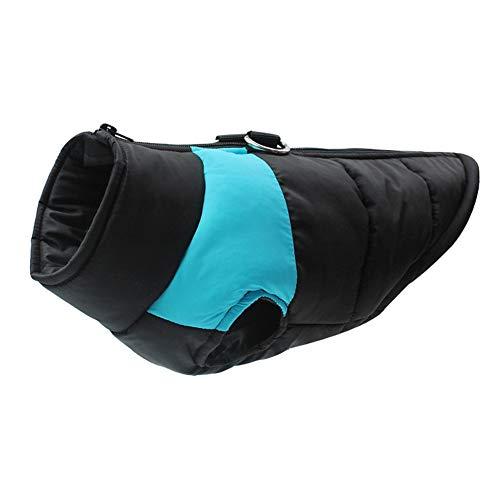 Homieco wasserdichte Hundemantel Jacke, Haustier Winterkleidung Snowproof Wasserdicht, Warme Haustier Jacke Hundejacke Hundepullover für Hunde - Blau