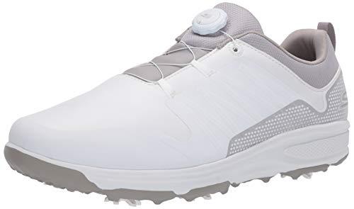 Skechers mens Torque Twist Waterproof Golf Shoe, White/Gray, 9.5 US