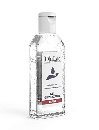 Dulàc - Gel Igienizzante Mani - per pulire ed igienizzare le mani in assenza di acqua (1 Pack 80 ml)