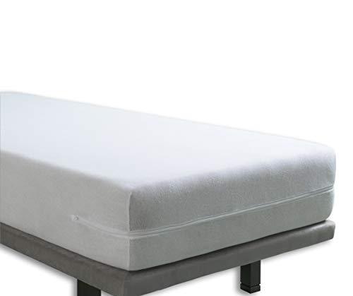 Tural - Fodera coprimaterasso con cerniera. Spugna 100% cotone. Misura 140x190/200cm