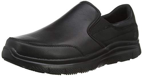 Skechers Flex Advantage Sr-Bronwood, Zapatillas sin Cordones Hombre, Negro (BLK Black Leather), 41 EU