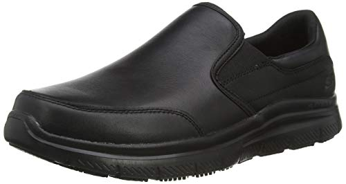 Skechers Flex Advantage Sr, Zapatillas sin Cordones para Hombre, Negro (Black Black), 39.5 EU