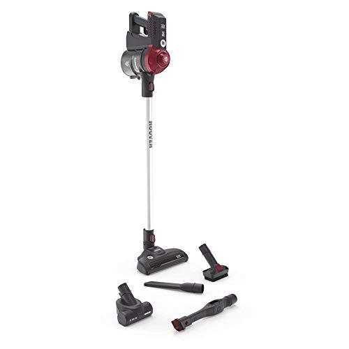 Hoover FD22RP011 Freedom - Scopa Elettrica Senza Filo, Autonomia fino a 25 min, Grigio e Rosso