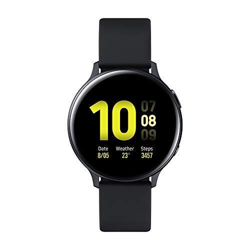 Samsung Galaxy Watch Active2 Smartwatch Bluetooth 44 mm in Alluminio e Cinturino Sport, con GPS, Sensore di Frequenza Cardiaca, Tracker Allenamento, IP68, Nero (Aluminium Black), Versione Italiana