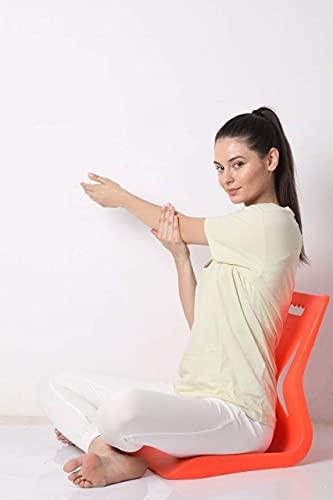 Unicus Inventors Aasan Chair for Yoga, Meditation, Backache Healer (Saffron)