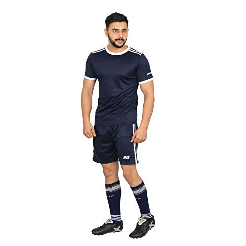 Vector X Football Set (T-Shirt & Short) VFS-002-A (Navy) (XL)